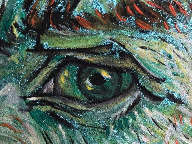 """Dantebus - """"Van Gogh Portrait su tela glitterata, particolare"""" Giualiana Calì"""