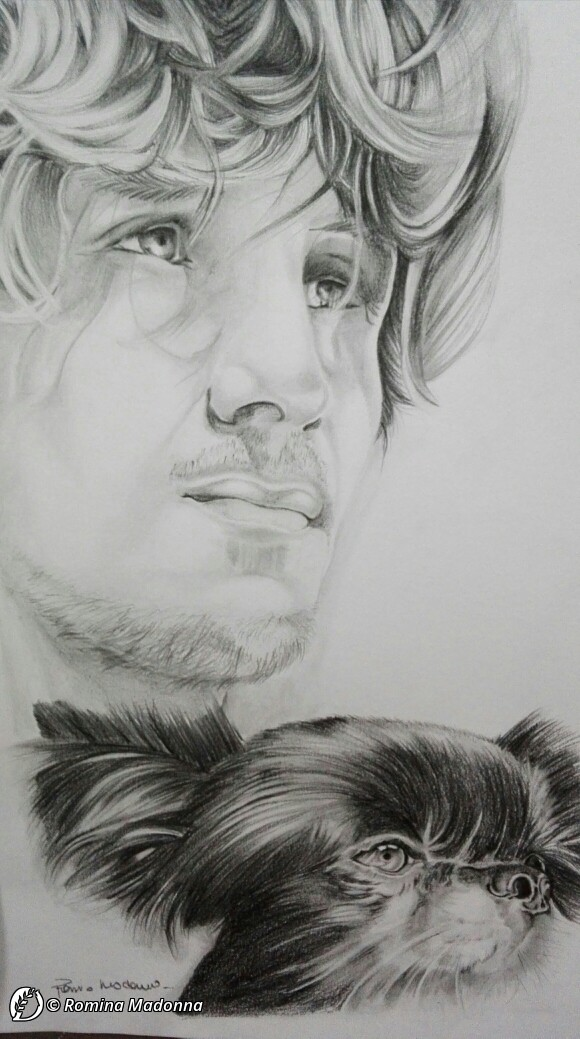 """Dantebus - """"ritratto il cane di cesar"""" Romina Madonna"""