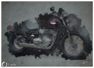 Dantebus - Triumph Digital painting - Paolo Brindesi