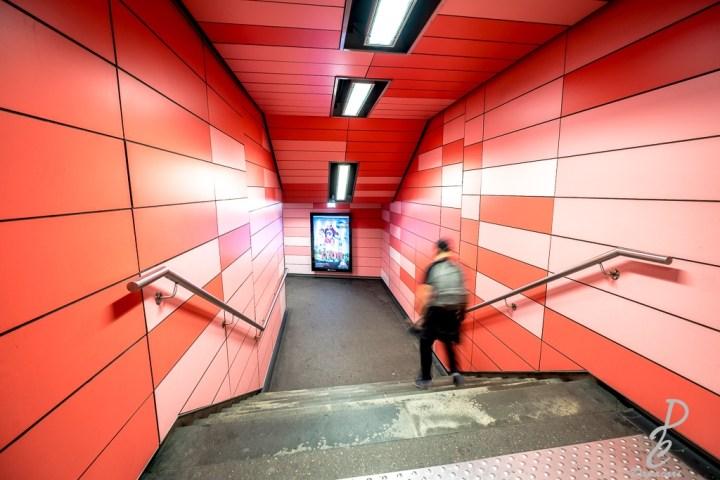 photo dans le métro de Lyon à Charpennes