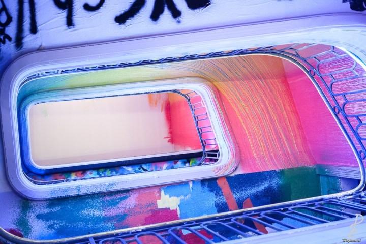 Escalier peint zoo art show xxl 2020 Tony Noël