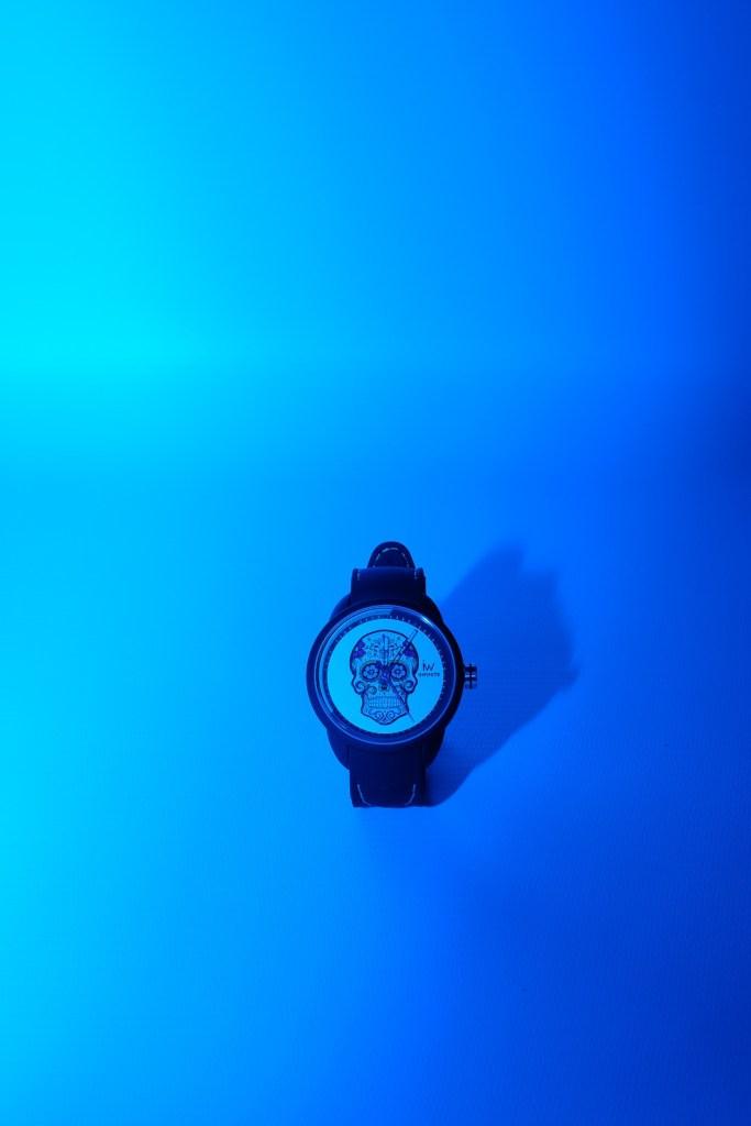 Test gel couleur bleu Hahnel