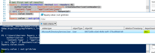 Azure Graph API using Differential Query