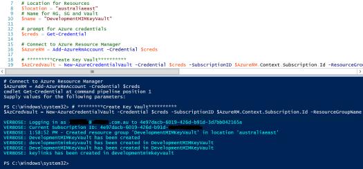 Create Azure KeyVault