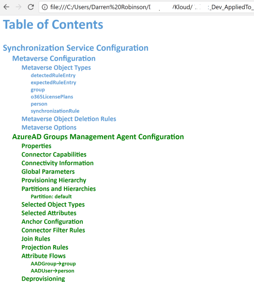 Identity Manager Configuration Documentation Report