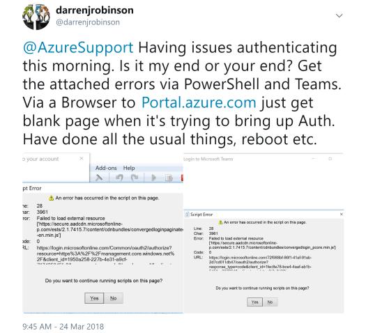 Azure Support Twitter