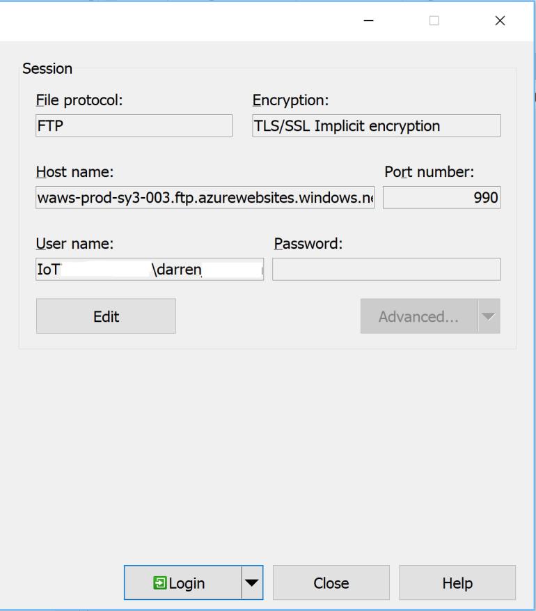 WinSCP Configuration