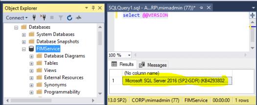 Actual SQL Version