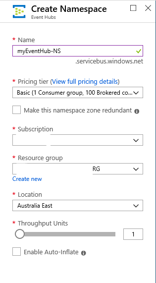 Created Event Hub Namespace.PNG