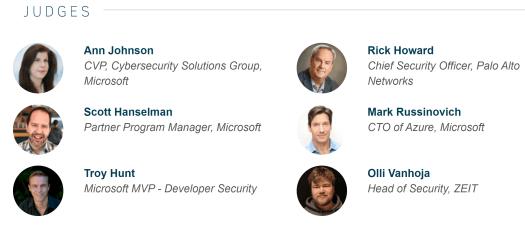 Microsoft Security Graph Hackathon Judges.PNG