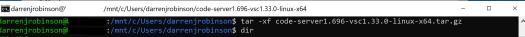 Untar Code Server