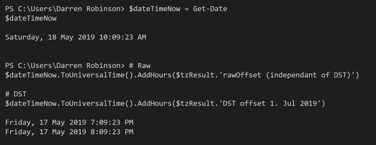 Snippet - Remote Time via TZ Lookup