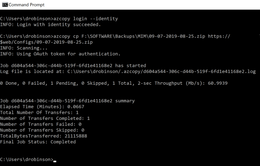 AzCopy file to Azure Storage Account using Managed Identity.PNG