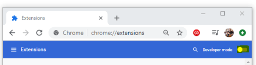 Enable Chrome Developer Mode
