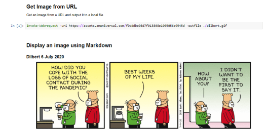 Get an image and display it using Markdown