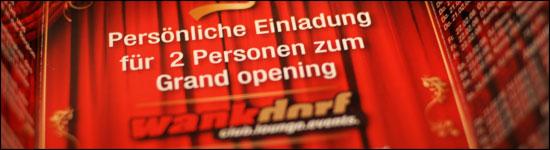 Wankdorf Club - Grand Opening - VIP Einladung