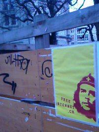 freeinterent.ch Plakat in Bern aufgehängt durch Passive Attack