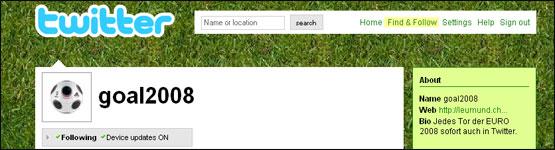 Bild zu Beitrag: Euro 2008 und andere Spielereien mit Twitter