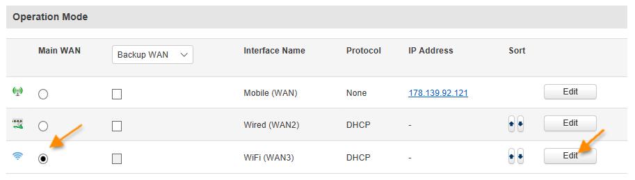 wan mode rut9xx - ¿ Cómo configurar mi router móvil para conectarse por WiFi a otro router ?