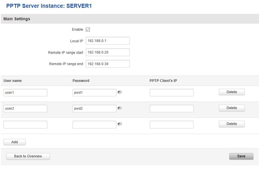 PPTP server - ¿ Cómo Configurar una VPN entre nuestro PC y un router Teltonika ?