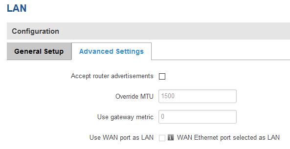 wan as lan - ¿ Cómo configurar el puerto WAN como otro puerto LAN en mi router ?