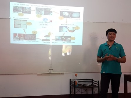 Bouchanh presenting his project