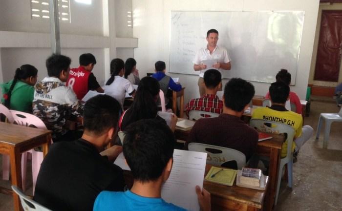 Transferring skills to teachers in Lao schools