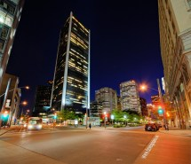Exploring Montreal Blue Hour Square Victoria