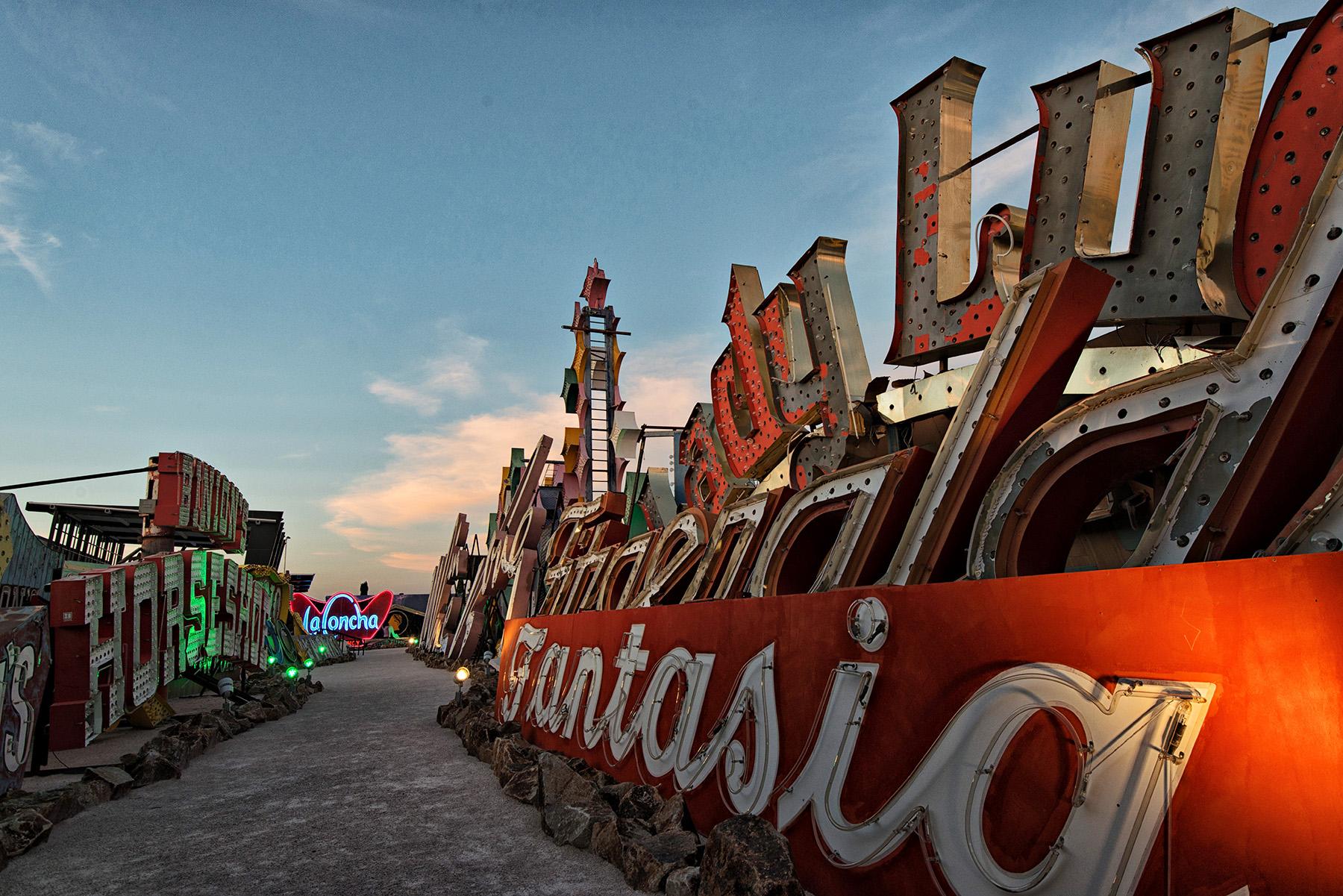 Exploring Las Vegas  Neon Museum Boneyard  David Giral
