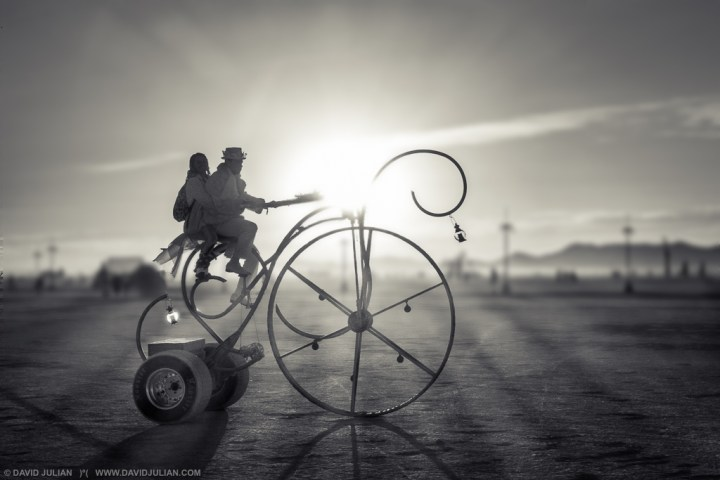 The elegant DreamCycle at Burning Man.