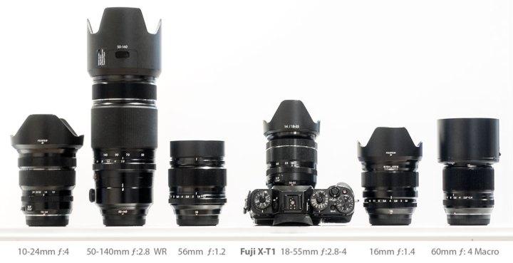 My Fuji X-T1 and lenses
