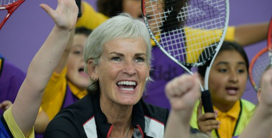 Judy Murray close up