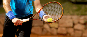 Learning basic tennis techniques