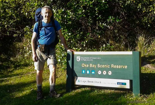 Ross at the end/beginning of Cape Brett track