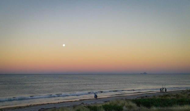 Moonrise Over Pukehina Beach