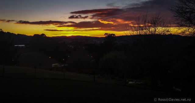 Sunrise over Dunedin