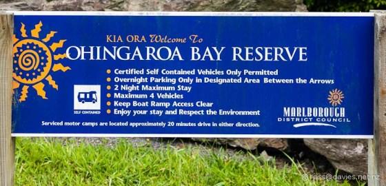 Ohingaroa Bay Sign
