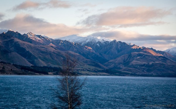 Lake Hawea and mountains - morning
