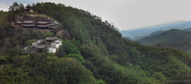 Ridge temple complex Shibao Mountain