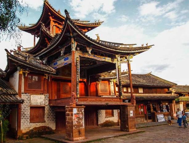Theatre building Market Square Shaxi