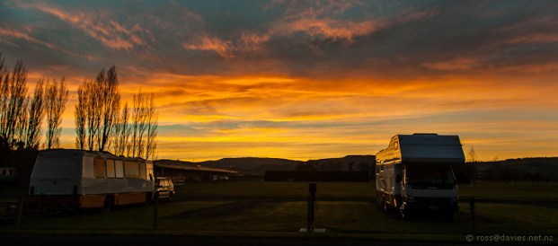 Sunrise at A & P Showgrounds Mosgiel