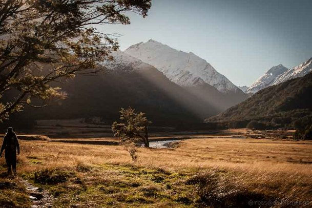 West Matukituki Valley towards Aspiring Hut