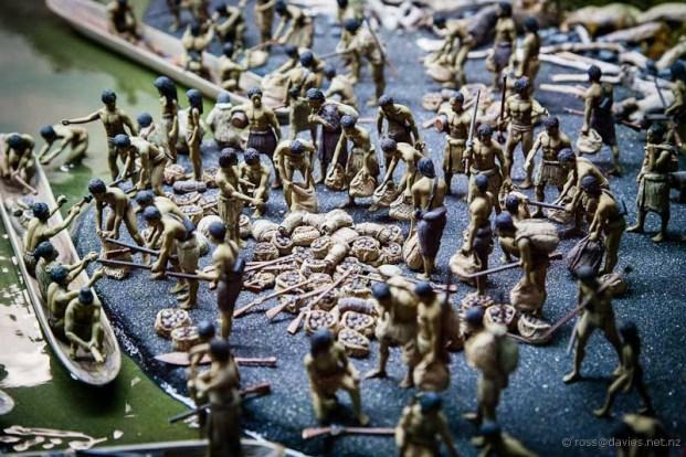 Tawhiti Museum diorama Maori raiding group