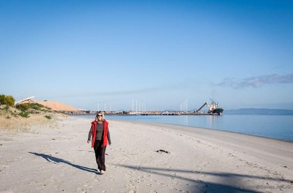Marsden Point Wharf at entrance to Whangarei Harbour