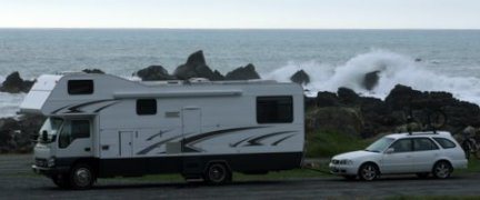 Wild camping north of Kaikoura