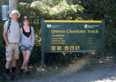 Start of Queen Charlotte Track