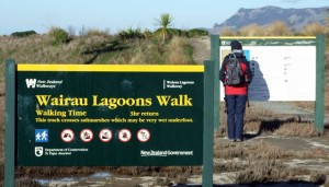 Wairau Estuary walk sign