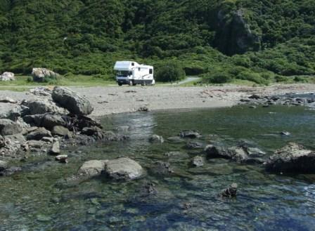 Seaside reserve Kaikoura