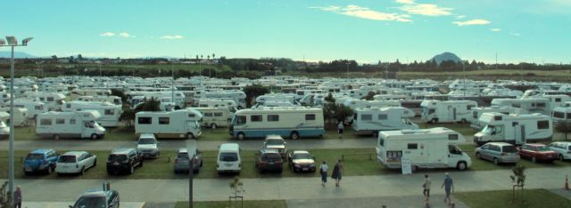 Motorhomes at 2010 Easter Rally