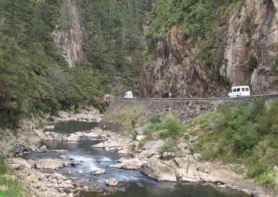 Karangahake Gorge road